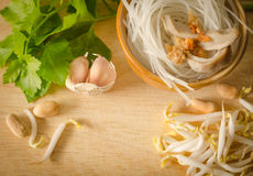 Ingredient for Thai noodle Royalty Free Stock Images