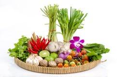 Ingredient of thai spicy soup (tom yum thai name). Stock Photos