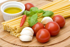 Ingredient to make maccaroni Stock Images