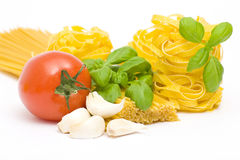 Ingredient to make pasta Royalty Free Stock Images