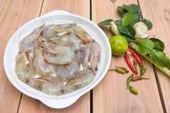 Ingredient for Tom Yum Kung or spicy soup Stock Image