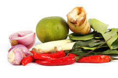 Ingredient for Tomyam set (Thai food) Royalty Free Stock Images