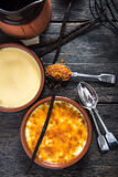 Ingredient for traditional creme brulee Stock Photography