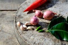 Ingrediente caldo e piccante di verdure Immagine Stock