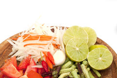 Ingrediente da salada da papaia isolado foto de stock royalty free