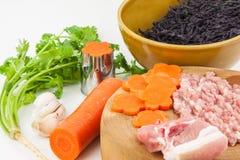 Ingrediente da sopa da alga Fotografia de Stock