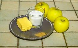 Ingrediente da torta de Apple Imagens de Stock Royalty Free