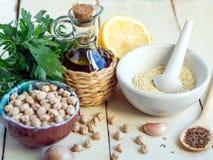 Ingrediente de Hummus Imagem de Stock