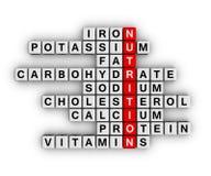Ingrediente de la nutrición Fotos de archivo libres de regalías