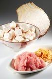 Ingrediente del riso dell'igname fotografia stock