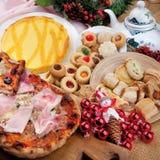 Ingrediente della composizione in cousine dell'alimento per mangiare Fotografia Stock Libera da Diritti