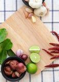 Ingrediente di alimento tailandese per cucinare Fotografia Stock Libera da Diritti