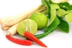 Ingrediente di alimento tailandese per Tom yum Immagini Stock