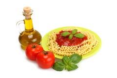 Ingrediente do espaguete Fotos de Stock Royalty Free