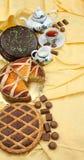 Ingrediente dolce della composizione in cousine dell'alimento per mangiare Immagine Stock
