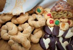 Ingrediente dolce della composizione in cousine dell'alimento per mangiare Fotografie Stock Libere da Diritti