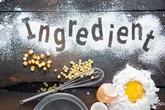 Ingrediente para la panadería Imagenes de archivo
