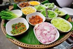 Ingrediente para o alimento tailandês Fotos de Stock Royalty Free