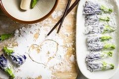 Ingrediente per la tempura del fiore Immagini Stock