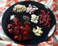 Ingrediente rosso tailandese della pasta del peperoncino rosso Fotografia Stock
