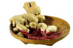 Ingrediente tailandês na cesta Imagem de Stock