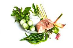Ingrediente verde del curry Immagini Stock
