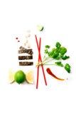 Ingredientes alimentarios asiáticos Fotos de archivo libres de regalías