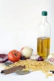 Ingredientes alimentarios de los macarrones fotografía de archivo libre de regalías