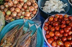 Ingredientes alimentarios en el mercado Foto de archivo libre de regalías