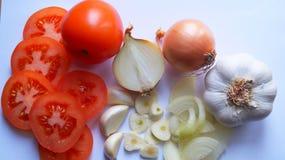 Ingredientes alimentarios sanos frescos Imagen de archivo libre de regalías