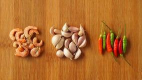 Ingredientes alimentarios tailandeses Imagen de archivo libre de regalías