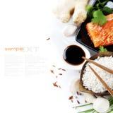 Ingredientes asiáticos tradicionais Fotografia de Stock Royalty Free