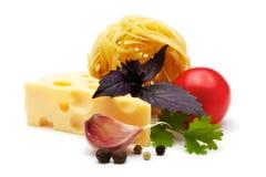 Ingredientes com queijo Foto de Stock Royalty Free