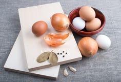 Ingredientes crus para o alimento natural no estilo do vintage Imagem de Stock Royalty Free