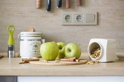 ingredientes da Apple-torta Fotografia de Stock