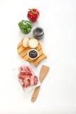 Ingredientes da cozinha Fotografia de Stock
