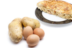 Ingredientes da omeleta Foto de Stock Royalty Free