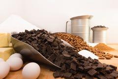 Ingredientes da padaria em um banco Fotografia de Stock