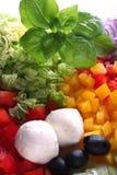 Ingredientes da salada Foto de Stock