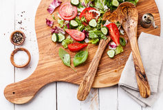 Ingredientes da salada vegetal Imagem de Stock Royalty Free
