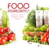 Ingredientes de alimento imagens de stock royalty free