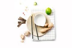 Ingredientes de alimento asiáticos Imagem de Stock