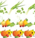 Ingredientes de alimento. Beiras decorativas Fotos de Stock Royalty Free