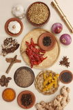 Ingredientes de alimento de Rajasthani Imagem de Stock Royalty Free