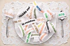 ingredientes de alimento diários que a maioria de povos comem Fotos de Stock Royalty Free