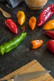 Ingredientes de alimento imagem de stock