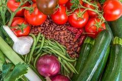 Ingredientes de alimento saudáveis Vários vegetais coloridos frescos Fotografia de Stock