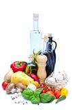Ingredientes de alimento saudáveis Fotos de Stock Royalty Free