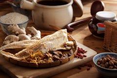 Ingredientes de alimento secados Foto de Stock Royalty Free