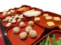Ingredientes de alimento de Suki imagem de stock